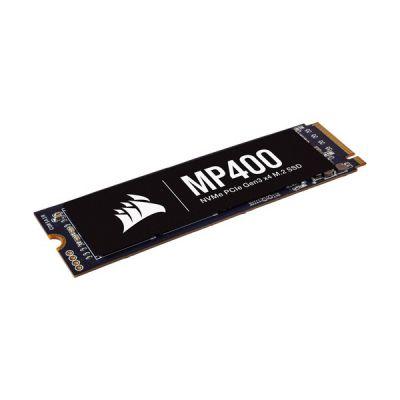 image Corsair MP400 8 TB Gen3 PCIe x4 NVMe M.2 SSD (Disque Lecture Séquentielle Allant jusqu'à 3 400 Mo/s et des Vitesses d'Ecriture Séquentielle Allant usqu'à 3 000 Mo/s, Mémoire NAND QLC 3D) Noir