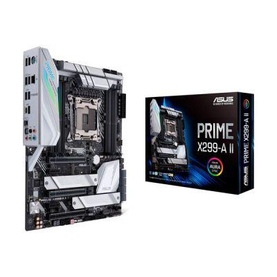 image ASUS Prime X299-A II – Carte mère (Intel ATX LGA 2066 , CPU Intel Core X, Overclocking avec IA, mémoire DDR4 4266 MHz, Triple M.2, USB 3.2 Gén.2 Type-C et Aura Sync RGB)