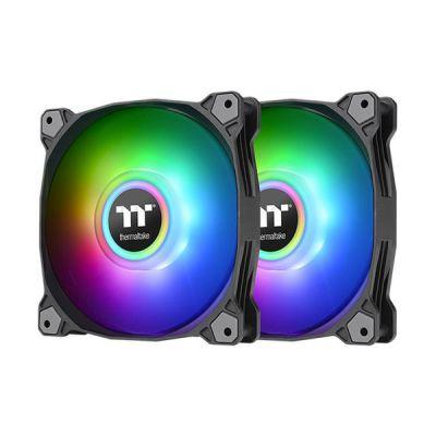 image Thermaltake Pure Duo 12 Universel Ventilateur 12 cm Noir 2 pièce(s)
