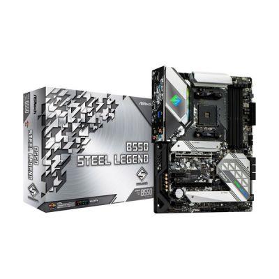 image ASRock B550 STEEL LEGEND, Carte Mère, Supporte la 3ème Génération d'AMD4 Ryzen, PCIe 4.0