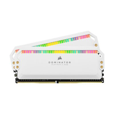 image Corsair Dominator Platinum RGB 16Go (2x8Go) DDR4 3600MHz C18, Eclairage LED RGB Mémoire de Bureau (Performances Haute, Temps Réponse Rapides, 12 paramétrables CAPELLIX RGB LED) - Blanc