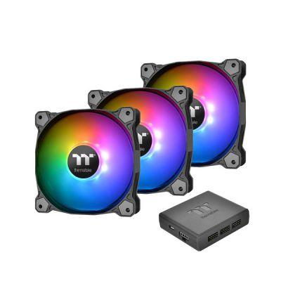 image Thermaltake Pure Plus RGB 14 TT Premium Edition 3Pack - Ventilateur pour PC Noir/Gris