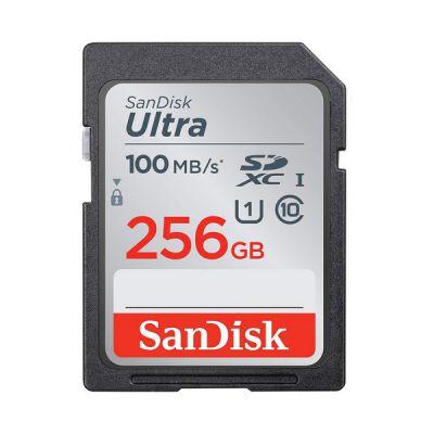 image SanDisk Ultra 256Go SDHC Carte mémoire allant jusqu'à 100MB/s, Class 10 UHS-I
