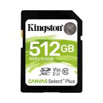 image produit Kingston SDS2/512GB Canvas Select Plus Carte SD Class 10 UHS-I 512 Go - livrable en France