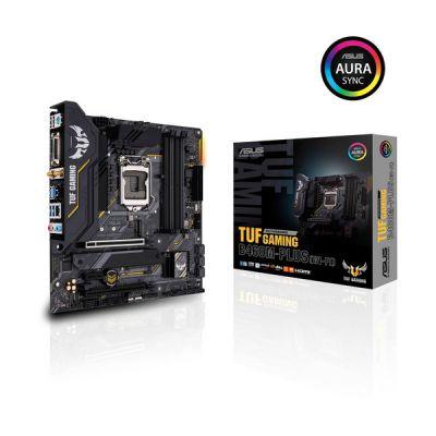 image ASUS TUF GAMING B460M-PLUS WI-FI Carte mère gaming Intel B460 LGA 1200 micro ATX (2xM.2, 8 phases d'alimentation, Intel WiFi 6, HDMI, DisplayPort, SATA 6Gbps, USB 3.2 Gen 1, Aura Sync RGB)