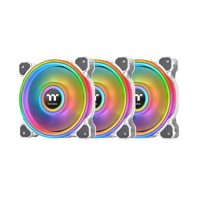 image Thermaltake Riing Quad 14 RGB Boitier PC Ventilateur 14 cm Blanc