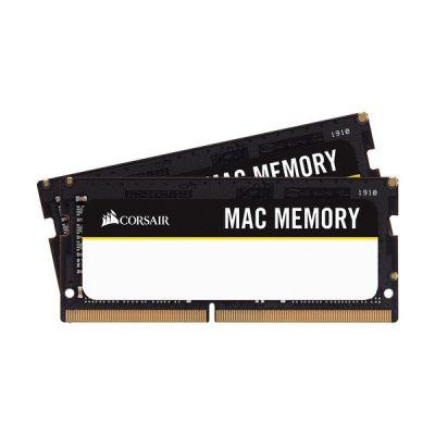 image Corsair Mac Memory SODIMM 64Go (2x32Go) DDR4 2666MHz CL18 Mémoire pour Systèmes Mac, Qualifiée Apple - Noir