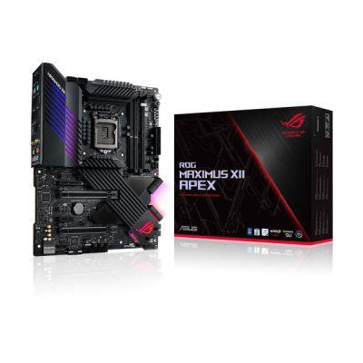 image ROG MAXIMUS XII APEX – Carte mère gaming Intel Z490 LGA 1200 ATX, 16 phases d'alimentation, DDR4 5000, OptiMem III, M.2 x3, Intel Wi-Fi 6, Intel LAN 2.5GB, USB 3.2 Gén.2 et éclairage RGB Aura Sync