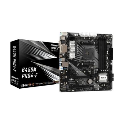 image Asrock B450M Pro4-F AMD B450 Emplacement AM4 Micro ATX