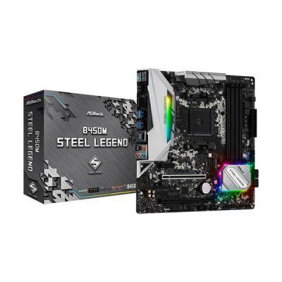 image ASRock B450M Steel Legend Cartes mères AMD AM4 Socket 1 PCIe 3.0 x16, 1 PCIe 2.0 x16, 1 PCIe 2.0 x1