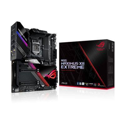 image ROG MAXIMUS XII EXTREME – Carte mère gaming Intel Z490 LGA 1200 EATX, 16 phases, DDR4 4700+ MHz, Intel Wi-Fi 6, LAN 10 Gb/s, Intel LAN 2.5GB, M.2 x4, USB 3.2 Gén.2 x2, OptiMem III, RGB Aura Sync