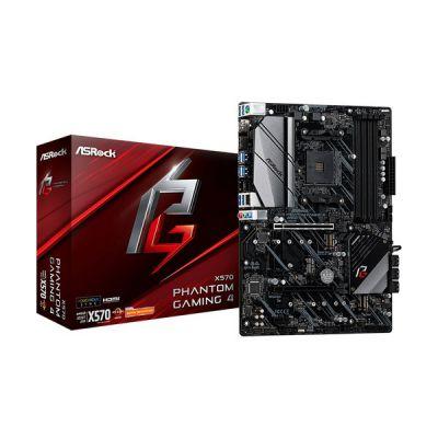 image ASRock x570 Phantom Gaming 4, Cartes mères AMD x570, AM4, DDR4, PCIe 4.0, Dual M.2, 2-Way Crossfire, Intel GbE, USB 3.2 Gen2 A, ATX