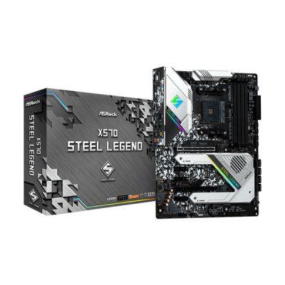 image Asrock x570 Steel Legend, AMD x570, AM4, DDR4, PCIe 4.0, Dual M.2, 2-Way Crossfire, Intel GbE, USB 3.2 Gen2 A+C, ATX