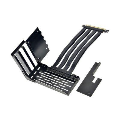 image Lian LI LAN2-1X Premium Câble d'extension PCI-E x16 3.0 Noir 200 mm et Support caché pour LANCOOL II/LANCOOL 2 Non Compatible avec RTX 3080/3090 et PCIE 4.0