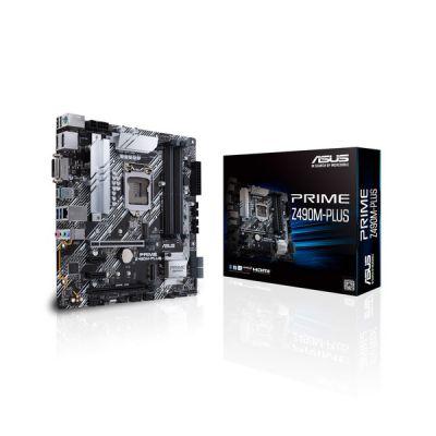 image ASUS Prime Z490M-PLUS Carte mère Intel 10a gen LGA 1200 avec VRM 9 Phases DrMOS, tête RGB, LAN IC- Intel I129-V, USB 3.2 Gen 2, USB 3.2 Gen 1, Dual M.2, Fan Xpert 4, Armoury Crate