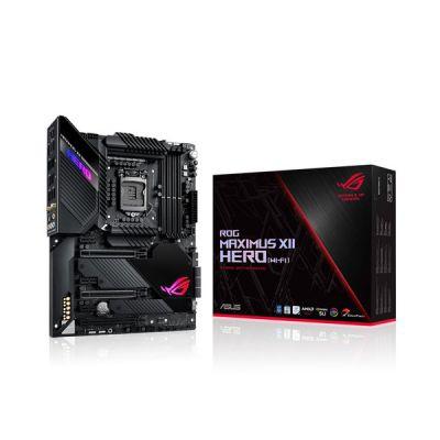 image ROG MAXIMUS XII HERO (WI-FI) – Carte mère gaming Intel Z490 LGA 1200 ATX, 16 phases, DDR4 4700+ MHz, Intel Wi-Fi 6, M.2 x3, LAN 5 Gb/s, Intel LAN, OptiMem III, USB 3.2 Gén., RGB Aura Sync