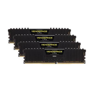 image Corsair Vengeance LPX 64Go (4x16Go) DDR4 3600MHz C18 XMP 2.0 Kit de Mémoire Haute Performance avec Airflow Ventilateur - Noir