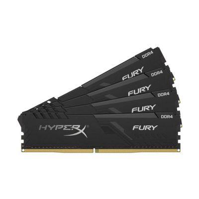 image HyperX FURY Black HX426C16FB3K4/32 Mémoire 32Go Kit*(4x8Go) 2666MHz DDR4 CL16 DIMM1Rx8