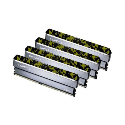 image G.Skill Sniper X F4-3600C19Q-64GSXKB module de mémoire 64 Go DDR4 3600 MHz - Modules de mémoire (64 Go, 4 x 16 Go, DDR4, 3600 MHz, 288-pin DIMM, Camouflage, Gris)