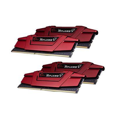 image G.SKILL Ripjaws série V Modèle F4-3000C16Q-64GVRB Mémoire de bureau 64 Go (4 x 16 Go) DDR4 288 broches PC4-24000