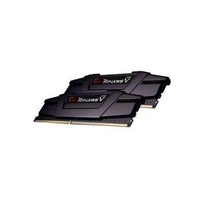 image G.Skill Kit Barrettes mémoire 32Go (2x16Go) DIMM DDR4 Ripjaws V PC4-28800 (3600 MHz) (Noir) F4-3600C18D-32GVK