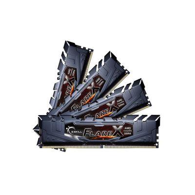 image G.Skill Barrette de mémoire DIMM 64 Go DDR4-3200 Quad-KIT F4-3200C14Q-64GFX Flare