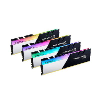 image Kit Barrettes mémoire 64Go (4x16Go) DIMM DDR4 G.Skill Trident Z Neo RGB PC4-28800 (3600 MHz) (Noir/Blanc)