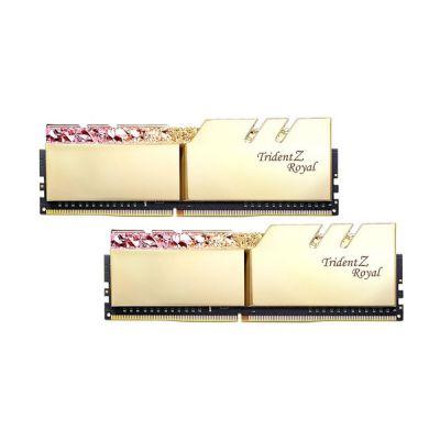 image DDR4 G.Skill Trident Z Royal Or - 32 Go (2 x 16 Go) 3600 MHz - CAS 19