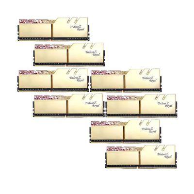 image DDR4 G.Skill Trident Z Royal Or - 256 Go (8 x 32 Go) 3200 MHz - CAS 16