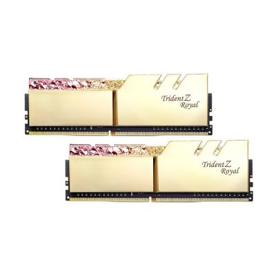 image DDR4 G.Skill Trident Z Royal Or - 64 Go (2 x 32 Go) 3200 MHz - CAS 16