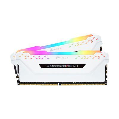 image Mémoire de Bureau Corsair Vengeance RGB Pro 16 Go (2 x 8 Go) DDR4 3600 (PC4-28800) C18 - Blanc