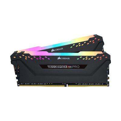 image Corsair Vengeance RGB PRO - Kit de Mémorie Enthousiaste (32Go (2x16Go), DDR4, 2666MHz, C16, XMP 2.0) Eclairage LED RGB dynamique - Noir