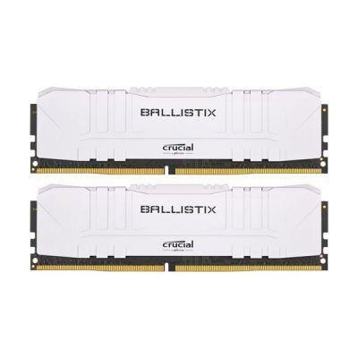 image Crucial Ballistix BL2K8G26C16U4W 2666 MHz, DDR4, DRAM, Mémoire Kit pour PC de Gamer, 16Go (8Go x2), CL16, Blanc