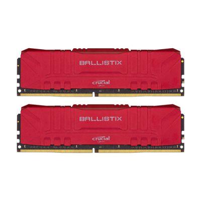image Crucial Ballistix BL2K16G36C16U4RL RGB, 3600 MHz, DDR4, DRAM, Mémoire Kit pour PC de Gamer, 32Go (16Go x2), CL16, Rouge