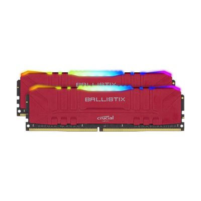image Crucial Ballistix BL2K8G36C16U4RL RGB, 3600 MHz, DDR4, DRAM, Mémoire Kit pour PC de Gamer, 16Go (8Go x2), CL16, Rouge
