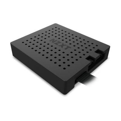 image NZXT RGB & Fan Controller - AC-2RGBC-B1 - Deux canaux d'éclairage RVB - Trois canaux de ventilateur numérique - Propulsé par le logiciel CAM V4 - Montage Magent / Velcro - Noir