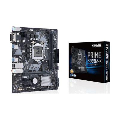 image ASUS Prime B365M-K LGA 1151 (Emplacement H4) Micro ATX - Cartes mères (DDR4-SDRAM, DIMM, 2133, 2400, 2666 MHz, Dual, 32 Go, Intel)