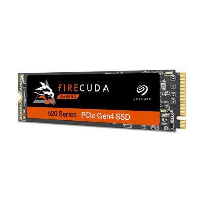 image Seagate FireCuda 520 500 Go, SSD interne hautes performances, PCIe 4e génération ×4 NVMe 1.3, pour PC de bureau et portables de jeu, services Rescue valables 3 ans (ZP500GM3A002)