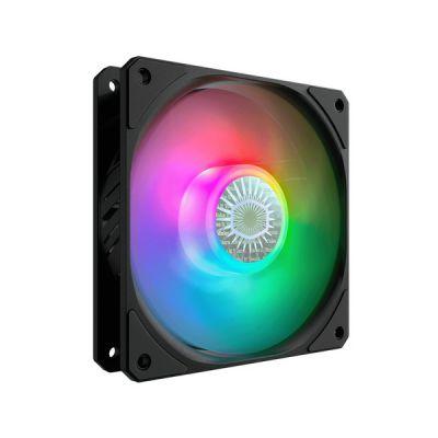 image Cooler Master Ventilateur RVB Adressable PWM de 120mm Masterfan SF120R ARGB (MFX-B2DN-20Npa-R1), Roulement Strié, Design de Pale de Ventilateur à Équilibrage d'air Hybride, gestion des cbles Rehaussé