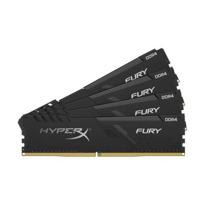 image HyperX FURY Black HX432C16FB3K4/64 Mémoire 64Go Kit*(4x16Go) 3200MHz DDR4 CL16 DIMM