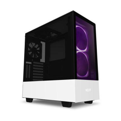 image NZXT H510 Elite - Boîtier PC Gaming Moyenne Tour Premium - Double Panneau Latéral en Verre Trempé - Port I/O USB Type-C en Façade - Montage Vertical du Processeur Graphique ( GPU ) - Blanc