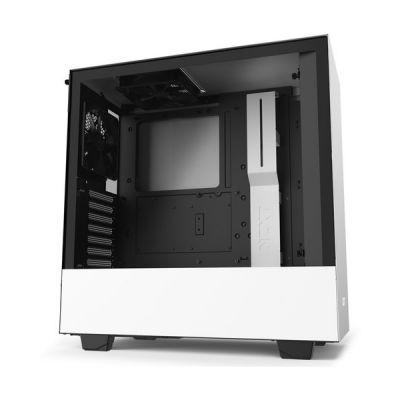 image NZXT H510 - Boîtier PC Gaming ATX Moyenne Tour Compact - Port I/O USB Type-C en Façade - Panneau latéral en Verre Trempé - Compatible Refroidissement Liquide - Noir/Blanc