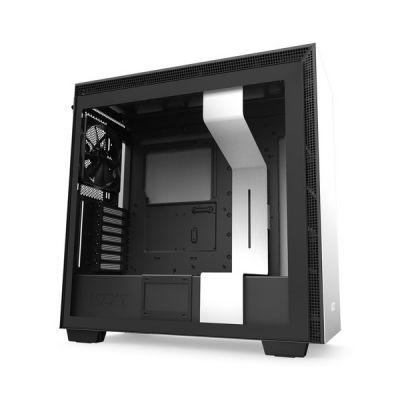 image NZXT H710 - Boîtier PC Gaming Moyenne Tour ATX- Port I/O USB Type-C en Façade - Panneau Latéral à Dégagement Rapide- Compatible Refroidissement Liquide - Construction en Acier - Noir/Blanc