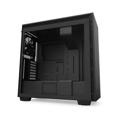 image NZXT H710 - Boîtier PC Gaming Moyenne Tour ATX- Port I/O USB Type-C en Façade - Panneau Latéral à Dégagement Rapide - Compatible Refroidissement Liquide - Construction en Acier - Noir