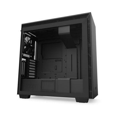 image NZXT H710i - Boîtier PC Gaming Moyenne Tour ATX - Port I/O USB Type-C en Façade - Panneau Latéral à Dégagement Rapide - Montage Vertical du Processeur Graphique ( GPU ) - Noir