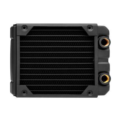 image Corsair Hydro X Series, XR5 Radiateur de 120 mm (Fixations Ventilateur de 120 mm, Installation Facile, Construction en Cuivre Premium, Guides de Vis de Ventilateur Inclus) Noir
