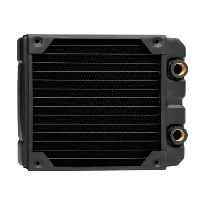 image Corsair Hydro X Series, XR5 Radiateur de 140 mm (Fixations Ventilateur de 140 mm, Installation Facile, Construction en Cuivre Premium, Guides de Vis de Ventilateur Inclus) Noir
