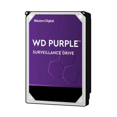 """image Western Digital - WD Purple 6To - Disque dur interne pour la vidéo surveillance avec technologie Allframe 4K™ - 3.5"""" SATA 6 Go/s, 180To/an, 64Mo Cache, 5400rpm - WD60PURZ"""