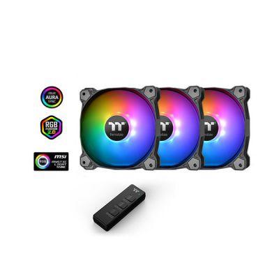 image Thermaltake Vent TT Pure 14 ARGB Sync Case Fan 3 Pack CL-F080-PL14SW-A 5623 Ventilateur PC Noir