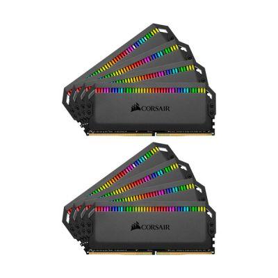 image Corsair Dominator Platinum RGB 128Go (8x16Go) DDR4 3600MHz C18, Eclairage LED RGB dynamique Kit de Mémoire – Noire